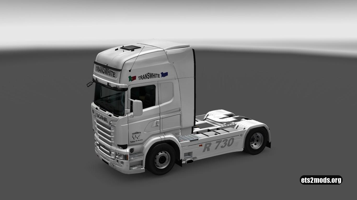 Trans White Skin for Scania RJL