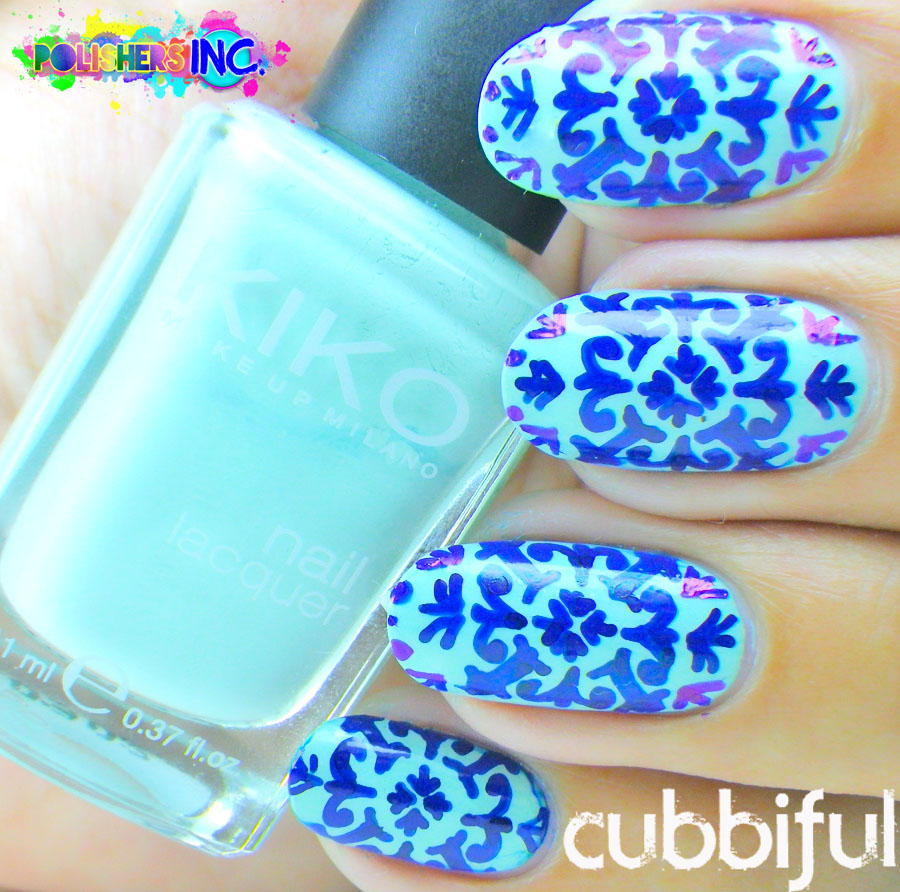 azulejo nails intricate pattern