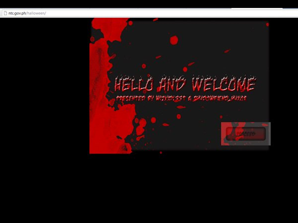 National Telecommunications Commission website defaced