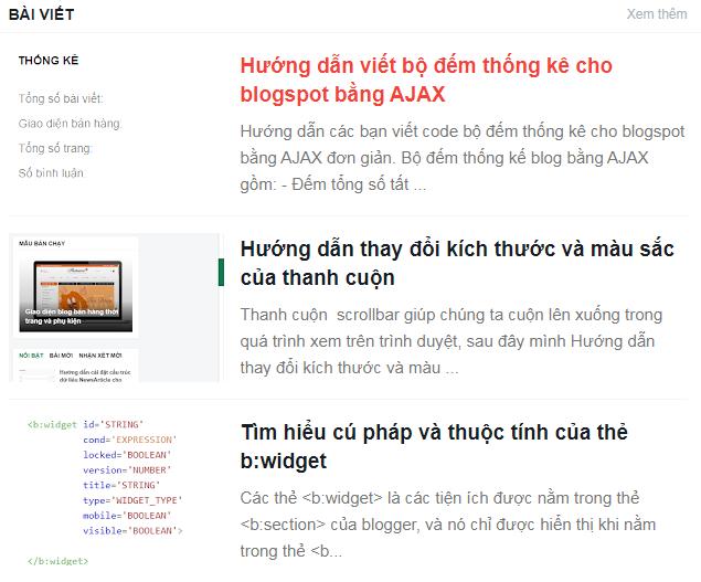 Cấu hình CSS cho bài viết đầu tiên của blogspot