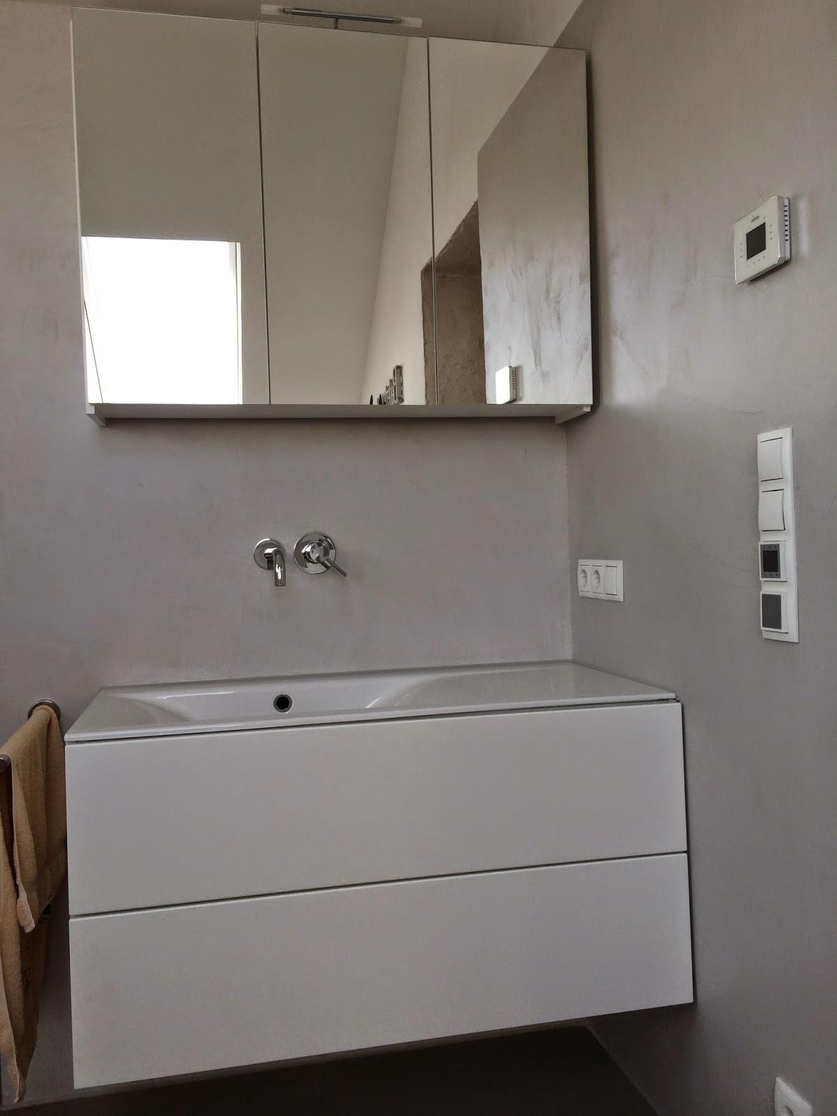 wand wohndesign beton cire september 2014. Black Bedroom Furniture Sets. Home Design Ideas