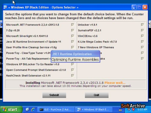 Windows XP Professional SP3 (x86) Black Edition Full Version