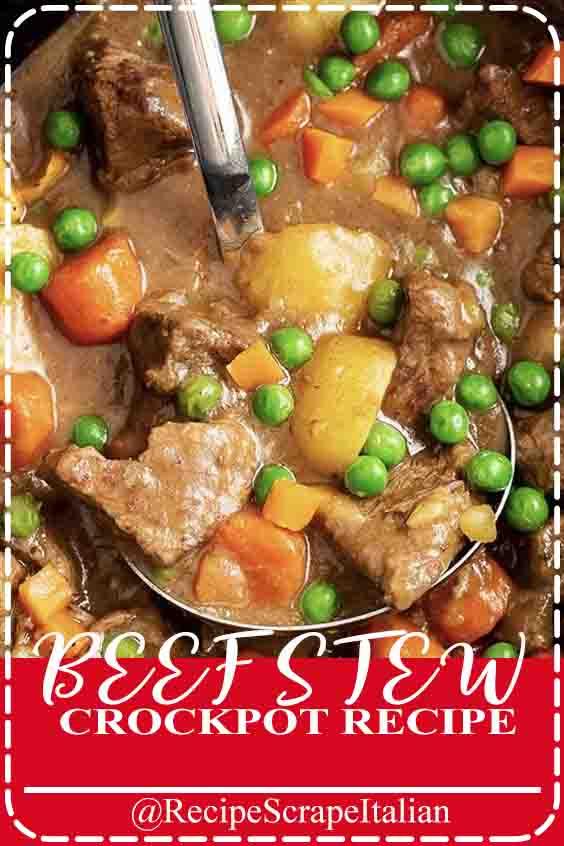 BEEF STEW CROCKPOT RECIPE #recipe #delicious #crockpotrecipe