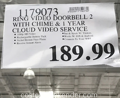 Deal for the Ring Video Doorbell 2 + Chime at Costco