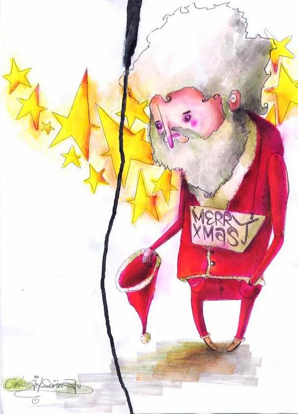 Auguri di Buon Nayale e Buone feste da un povero Babbo Natale