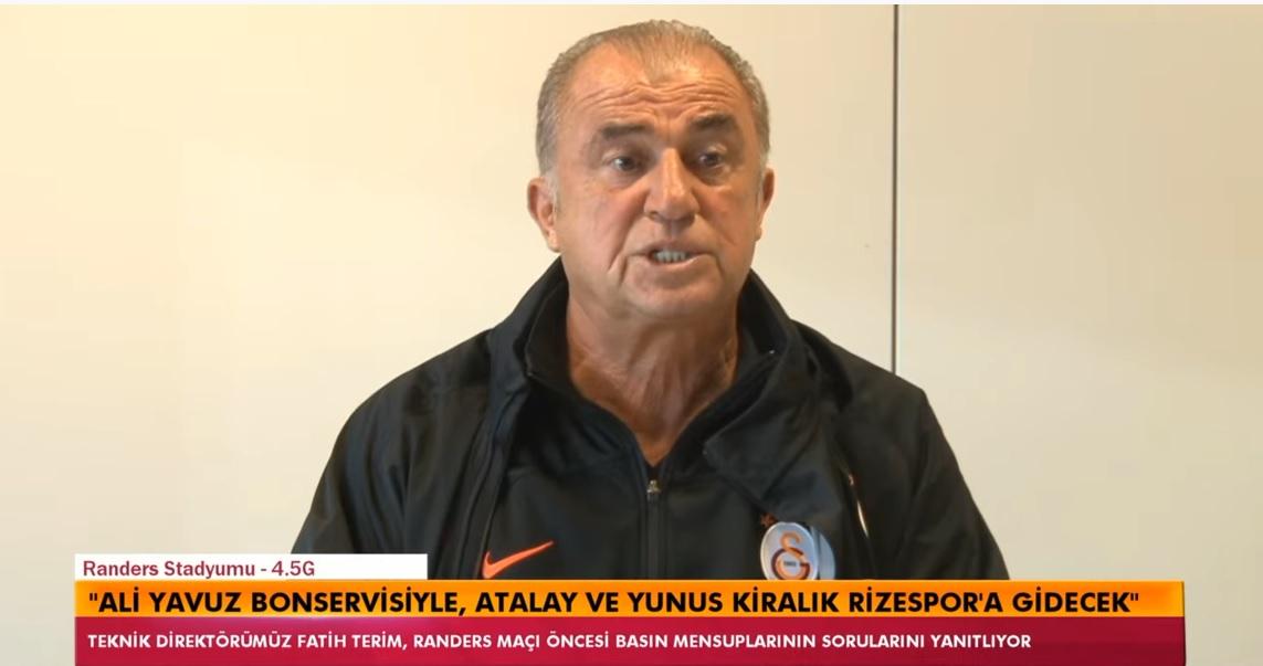 Fatih Terim'den genç oyuncular hakkında açıklama..