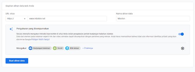 Siapkan data website anda URL Situs Google Analytics
