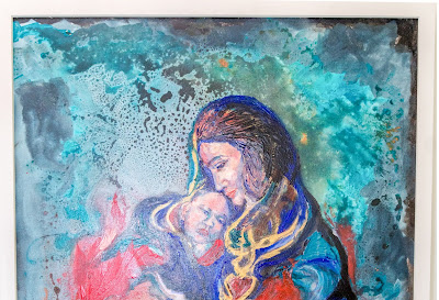 The flaming love of mother to the child, and child to the mother - 105.5 x 80cm
