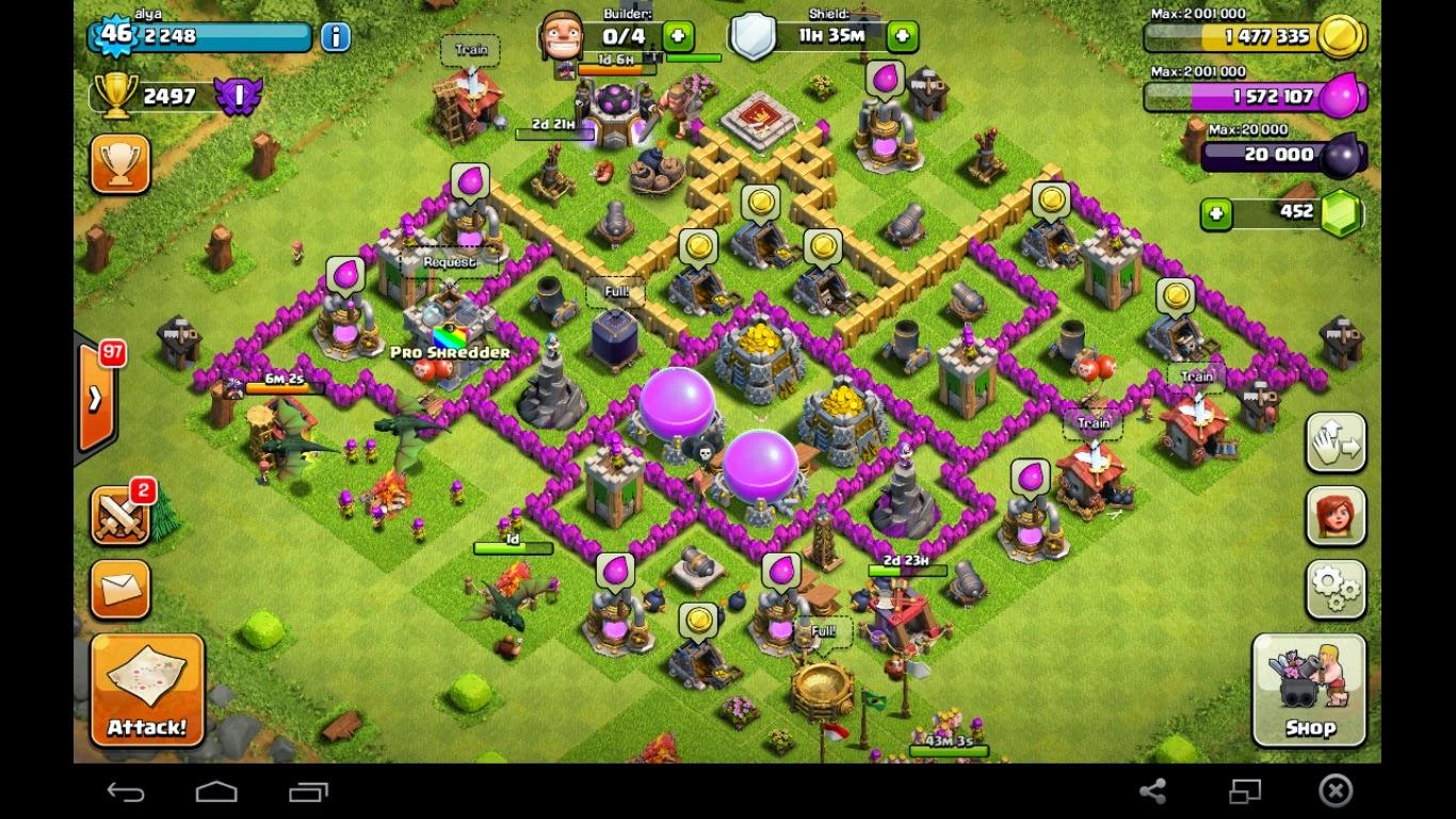 Gambar Base Coc Th 7 Kelelawar 2