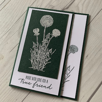 Handmade Floral Greeting card using Stampin' Up! Garden Wishes Stamp Set