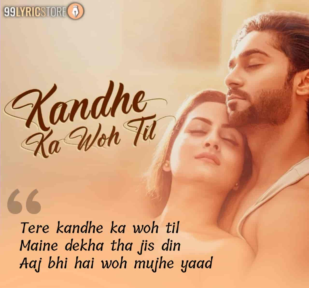 Kandhe Ka Wo Til Hindi Song Image Features Salman Yusuff Khan and Zaara Yesmin