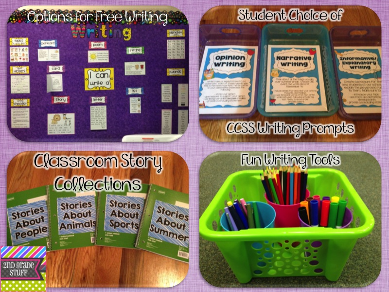 Writing activities for first grade centers for the book