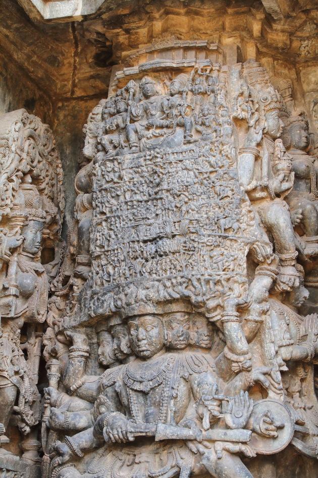 Intricate work like no other at Hoysaleswara Temple, Halebid, Karnataka
