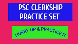 PSC CLERKSHIP PRACTICE MODEL BOOK PDF.
