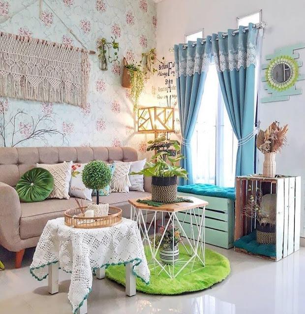 Motif Wallpaper Ruang Tamu Sederhana