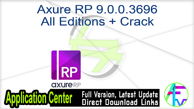 Axure RP 9.0.0.3696 All Editions + Crack