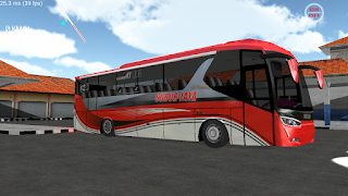 Subur Jaya merah SR2 - Download livery ES Bus Simulator ID 2