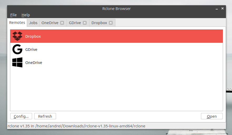 RcloneBrowser (Rclone GUI) Lets You Manage Multiple Cloud Storage