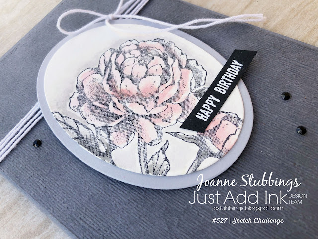Jo's Stamping Spot - Just Add Ink Challenge #527 watercolour using Prized Peony by Stampin' Up!
