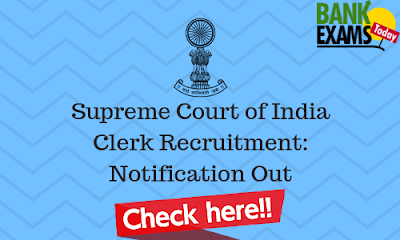 Supreme Court of India Clerk Recruitment 2019: Notification Out