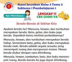 Kunci Jawaban Kelas 3 Tema 3 Subtema 1 Pembelajaran 1 www.simplenews.me