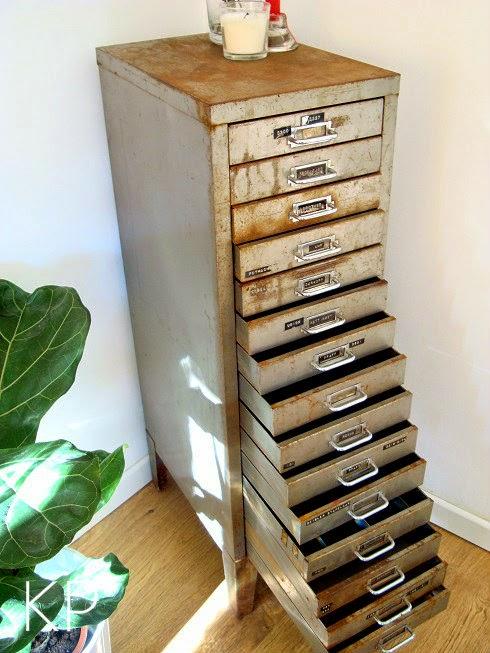Kp tienda vintage online cajonera industrial ref t9 for Muebles industriales online