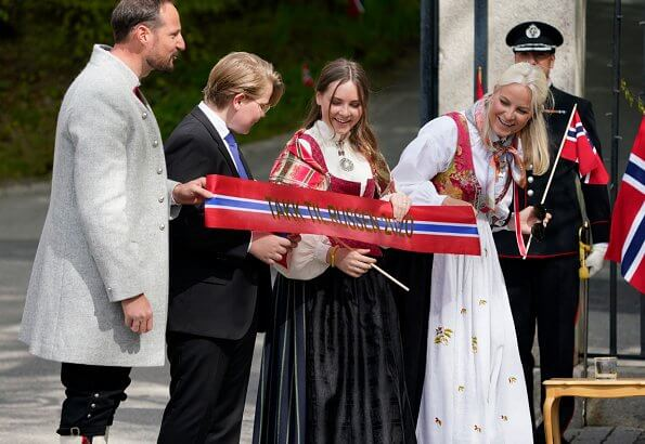 Crown Prince Haakon, Crown Princess Mette-Marit, Princess Ingrid Alexandra and Prince Sverre Magnus