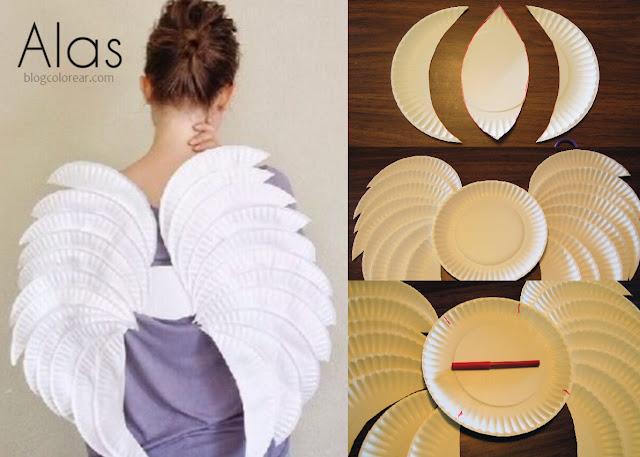 Hacer una alas de ángel con platos