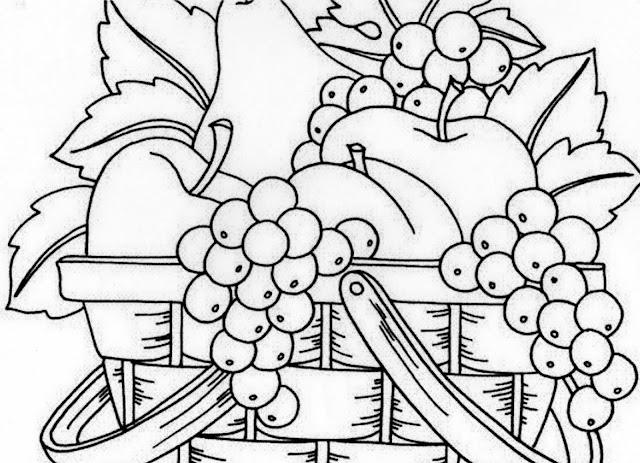 Dibujos Para Colorear Frutero Con Frutas Frutero De