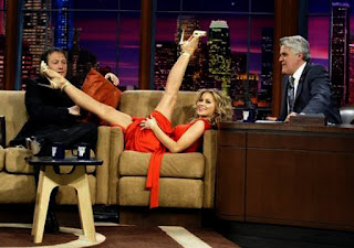 Carmen Electra Legs Stretching On A TV Program 3