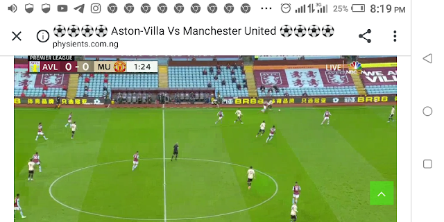⚽⚽⚽⚽ Aston-Villa Vs Manchester United ⚽⚽⚽⚽