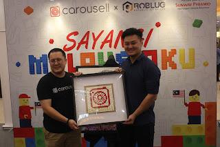 "TUN M AND TUN SITI'S  LEGO MURAL UNVEILED AT  CAROUSELL'S ""SAYANGI MALAYSIAKU""  LEGO ART EXHIBITION IN SUNWAY PYRAMID"
