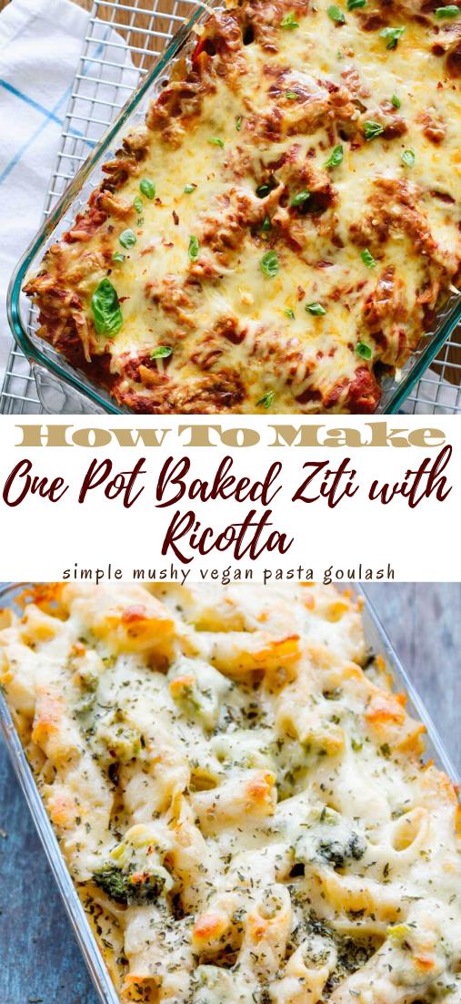 One Pot Baked Ziti with Ricotta #healthyrecipe #dinnerhealthy #ketorecipe #diet #salad