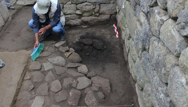 Inca ceramic fragments found in Machu Picchu