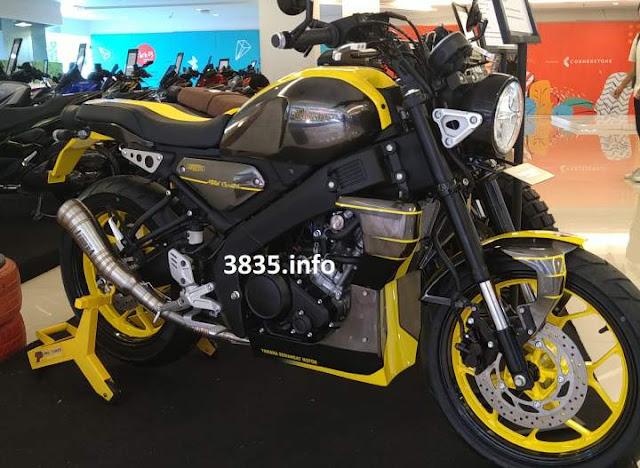 Modifikasi XSR155 Warna Kuning oleh pro Tuner Bali