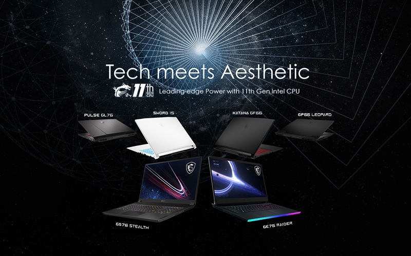 MSI unveils new gaming and creator laptops with 11th Gen Intel Core processors