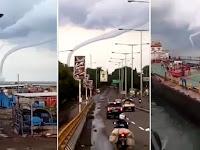 Ngeri! Video Penampakan Puting Beliung Mengamuk di Cirebon bikin Banyak Orang Istighfar