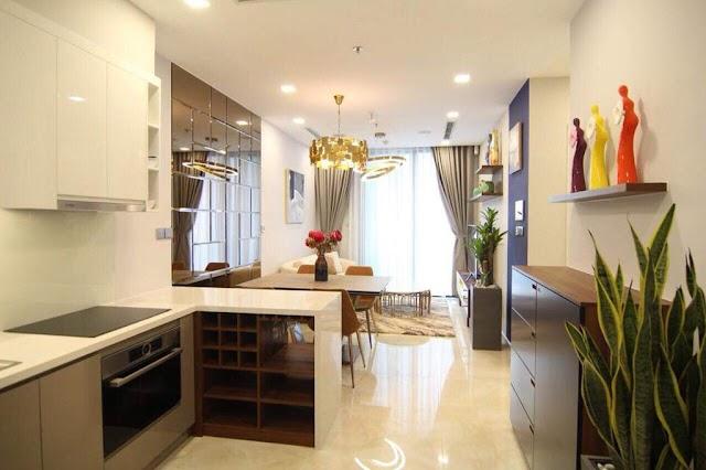 Vinhome Ba Son cho thuê căn hộ 51m2 nội thất cực đẹp 1100$ bao phí