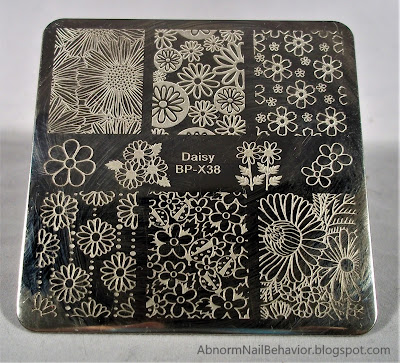BP-X38 daisy stamping plate flowers and lady bugs