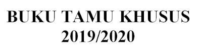 Format Buku Tamu Khusus SD/SMP/SMA Pelaksanaan PPDB Tahun Pelajaran 2019 / 2020