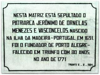 Jazigo de Jerônimo de Ornellas Vasconcelos e Menezes, Triunfo (RS)