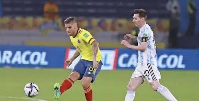 ملخص واهداف مباراة الارجنتين وكولومبيا (2-2) تصفيات كاس العالم