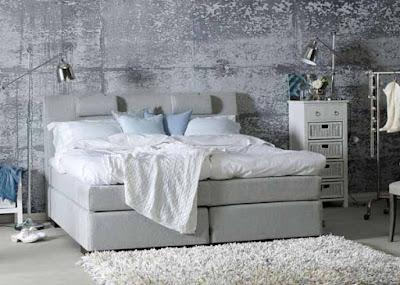betongtapet grå sovrum fototapet sliten vägg