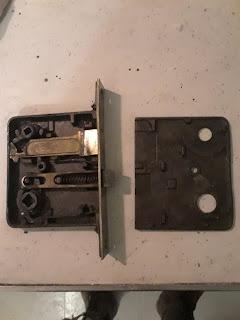 Old lock from grandparents front door.