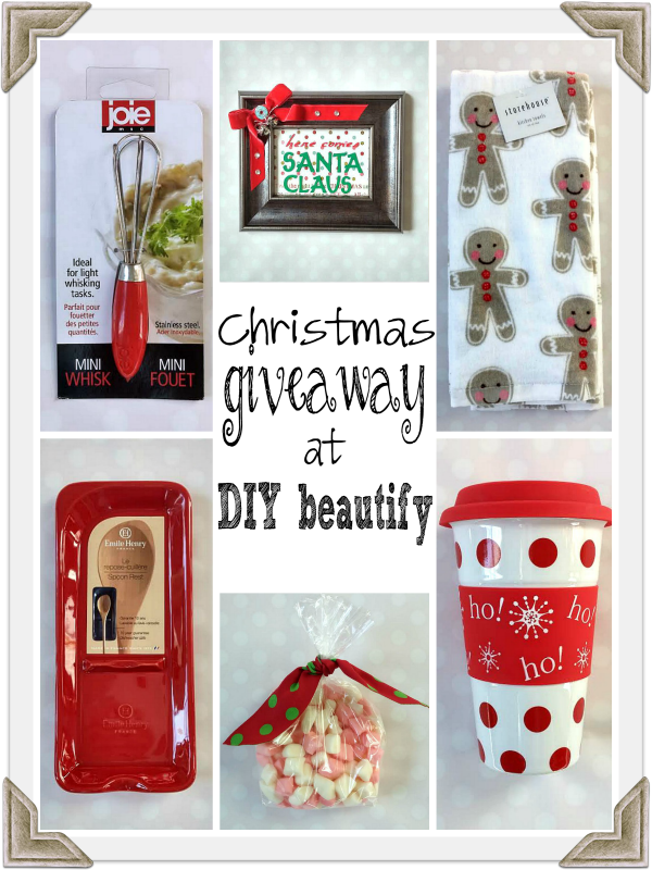 Christmas giveaway DIY beautify blog