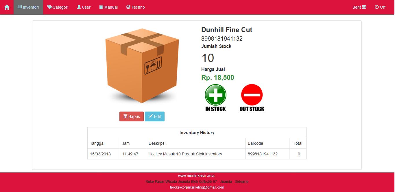 System software inventory gudang in-out stok mudah digunakan