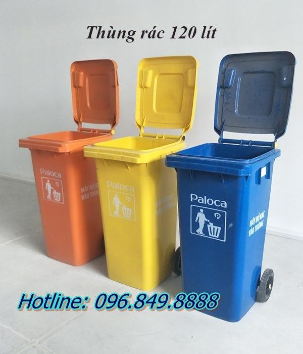 Thùng rác nhựa 120L được sử dụng rộng rãi