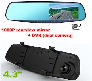 specchio dvr telecamera
