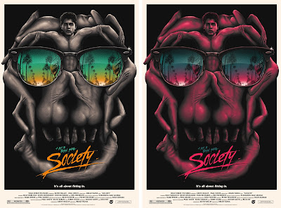 Society Movie Poster Screen Print by Matt Ryan Tobin x Mad Duck Posters - Beach & Party Editions