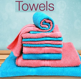Bath Towels (Medium & Large Size) – Min 50% Off or more @ Amazon